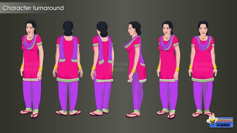 Character turnaround Bijli